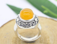 Sanyue brand 2015 women 925 sterling silver vintage natural stone sapphire ring engagement and party ring - AliExpress