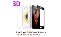 3D Curved Edge Full Cover Screen Protector For iPhone 7 6S 8 Tempered Glass On The For iPhone 6S 7 Plus Protective Glass Film - AliExpress