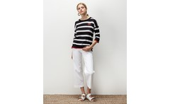 Sweater stripes heart kazan portsaid - Dressit