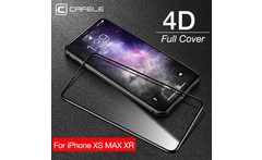 CAFELE Screen Protector for iPhone Xs Max Xr 4D Tempered Glass Full Cover HD Clear Protective Glass for Apple iPhone 5 8 6 1 6 5 - AliExpress
