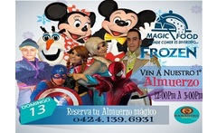 Entrada al espectaculo Magic Food Almuerzo Magico con Ana Elsa Spiderman Capitan America Mickey Minnie y mas - Aprovecha