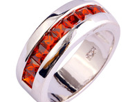 Exquisite FashionRed Garnet 925 Silver Ring Size 7 8 9 10 Wholesale Free Shipping For Unisex Jewelry - AliExpress