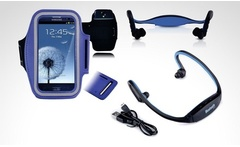 Kit de funda de gimnasio diadema bluetooth con ranura para SD para Samsung Galaxy en color a eleccion Incluye envio - Groupon