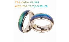 Stainless steel ring change color mood ring feeling emotional temperature ring width 6 mm smart jewelry wholesale 50 piece - AliExpress