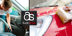 61% OFF: Lavado de auto interior + exterior manual + encerado en Audio Shop a $39 - Clickon