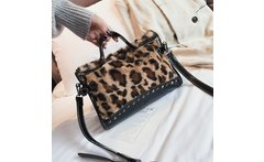 La MaxZa Bag for Women Leopard Print Handbags Women s High capacity Velvet Messenger Bags Boston Vintage Handbags - AliExpress