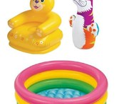 Intex Combo Teddy Chair Pool With Hit Me Bop Bag - Snapdeal