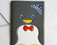 Black Penguin Passport Holder ID Card Holder 3D Design PVC Leather Business Card Bag Passport Cover 14 9 6CM - AliExpress