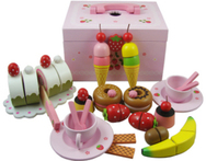 wooden toys mother garden strawberry simulation afternoon tea children kitchen toys kids toy food chirstmas gift pretend play - AliExpress