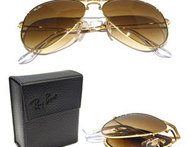 ENVIO GRATIS: Lentes Ray Ban Aviador Folding Gold Brown. - Descontate
