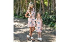 2019 Mother And Daughter Family Matching Dress Deer Printed Women Girls Sundress Summer Outfits Family Clothing Dresses - AliExpress