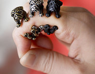 Handmade Pug Dog Rings for Women Summer Jewelry Anillos Mujer - AliExpress