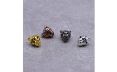 Wholesale 10 Pcs Lot Animal Style Alloy Leopard Head Beads Charm for Jewelry Making DIY Bracelet Findings Components - AliExpress
