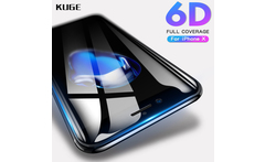 KUGE 6D 9H Full Cover Glass For iPhone 6 6s 7 8 Plus Tempered Glass For iPhone 6 7 8 X Screen Protector For iPhone 8 Glass film - AliExpress