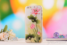 For iPhone 6 plus Case 5 5 inch High quality 3D relief Diamante Painted lotus chrysanthemum Pattern luxury hard PC back cover - AliExpress