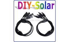 MC4 Parallel connector Adapter 1M4F 4M1F TUV UL standard 4 in 1 Y Connector with 74 5cm cable dedicated for PV Solar system - AliExpress