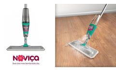 Mopa con cabo y Spray Incluye Repuesto de microfibra lavable - Clickon