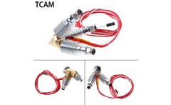 TCAM 3 In 1 Brass Print Part Out Brass Nozzle Throat Three Long Distance V6 Heatsink Thermistor Extruder Kit For 1 75 0 4mm - AliExpress