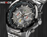 WEIDE 2015 Hot Sale Business Quartz Watches Men Luxury Brand Stainless Steel Band with 3ATM relojes de marca - AliExpress