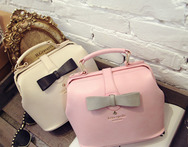 Women s bag 2015 women s handbag fashion sweet gentlewomen bow color block doctor bag handbag - AliExpress