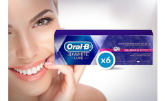 Pack 6 Pastas Dentales Oral B 3D White Luxe 75 ml - Cuponatic