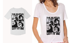 ¡¡Remera Manga Corta con Estampa Let It Be a solamente $79!! - Vivoensale