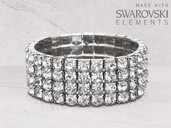 Brazalete 4 Rows Tennis made with Swarovski Elements