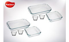 Outlet Pack 2 Asaderas Rectag 2 Cuadradas 4 Flan Marinex - Cuponatic