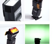 Flash Diffuser 12 sets Color card for Strobist Flash Gel Filter Color Balance with rubber bandr for all Speedlight Flash - AliExpress