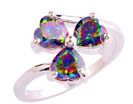 Mysterious Rainbow Topaz 925 Silver Ring Size 7 8 9 10 Fashion Jewelry For Women Free Shipping Wholesale - AliExpress