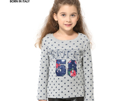 2015 New Spring Autumn Cotton Print Number Girl O neck T shirt Clothing Kids Children Tees And Top With Long Sleeve Fit 2 10 t - AliExpress