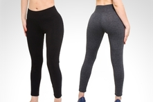$44.900 en vez de $98.700 por 3 leggings Reytin Tex con pretina ancha con despacho. Elige colores - Groupon