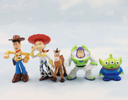 2014 Set of 5 pcs Toy Story party buzz Lightyear Woody Green Man Action Figures Toys For Children - AliExpress