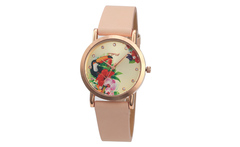 tropical lady watch toucan bird pattern leather strap hot sale lady wristwatch - AliExpress