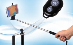 Monopod recargable con bluetooth integrado. - Clickon