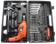 Black Decker HD5513KA40 13mm 550W VSR Hammer Drill Kit with 40 Accessories - Snapdeal