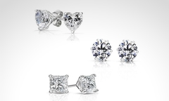 $14.990 por set de 3 pares de aros de plata 925 hechos con cristales SWAROVSKI ELEMENTS. Incluye despacho - Groupon