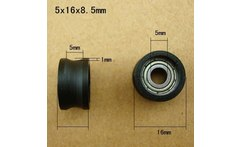 5 16 8 5 mm pulley encapsulates the embedded bearing plastic coated nylon wheel - AliExpress