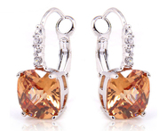 Beautiful Style Champagne Morganite Dangle Hook 925 Silver Earrings Fashion Jewelry For Women Wholesale Free Shipping - AliExpress