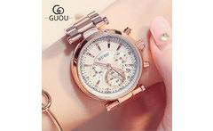 GUOU Luxury Watch Women Steel Bracelet Auto Date Women s Watches Multi runtioan Ladies Clock saat relogio feminino reloj mujer - AliExpress