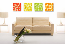 53% Set 4 Cuadros Canvas Frutas - Cuponatic
