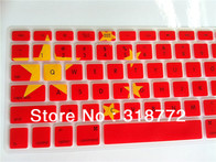 10pcs lot china chinese flag five stars pattern Silicone Keyboard Cover Skin protector film sticker for Macbook Pro 13 15 17 US - AliExpress