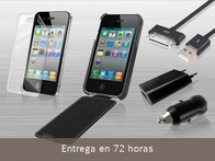 Set iPhone 4 y 4S: Funda, Kit Cargador y Lámina - LetsBonus