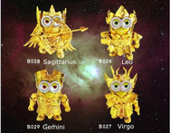 Minion cos Gold Saint Leo Virgo Gemini Action Figures 1 8 scale painted figure Sagittarius Dolls ACGN figure Toy Brinquedos W97 - AliExpress
