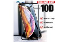 Curved Edge 10D Hard Glass on the for iPhone X XR XS Max Tempered Glass on for iPhone 7 8 6S 10 Screen Protector Full Cover Film - AliExpress