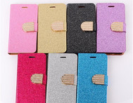 For Samsung galaxy S4 i9500 Rhinestone Diamond Glitter Plating Powder Wallet Leather Case For Samsung galaxy S5 i9600 phone bags - AliExpress