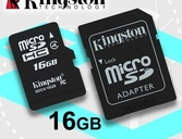 Tarjeta de memoria Micro SD con adaptador kingston 16GB Oferta hasta agotar stock imperdible