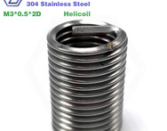 m3 2D 100pcs stainless steel thread locking 304 helicoil screw insert - AliExpress