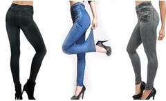 1 o 3 jeggings con efecto push up - Groupon