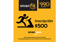 Elige Smart y ponte Fit Aprovecha y paga RD 500 en vez de RD 1 000 por Inscripcion en Smart fit Sambil - Viagrupo